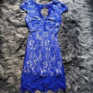 PRE LOVED royal blue lace dress